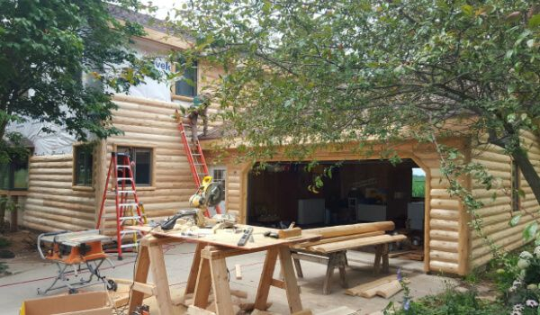 Log home siding repair