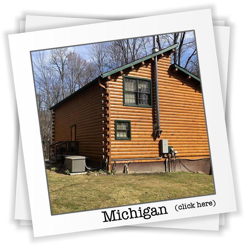 Michigan log home restoration