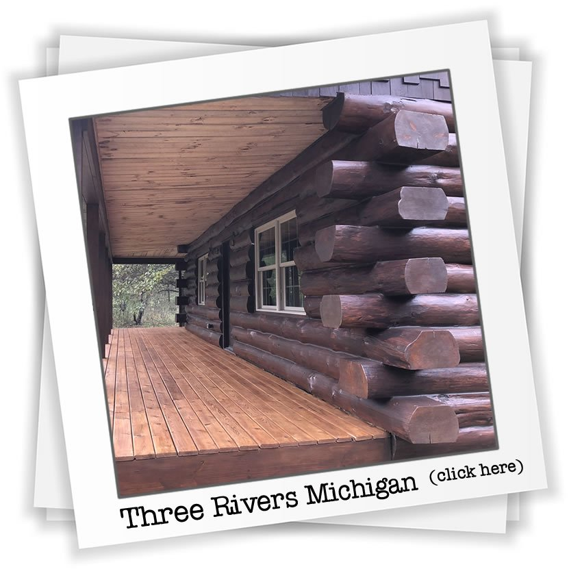Log home restoration Three Rivers Michigan
