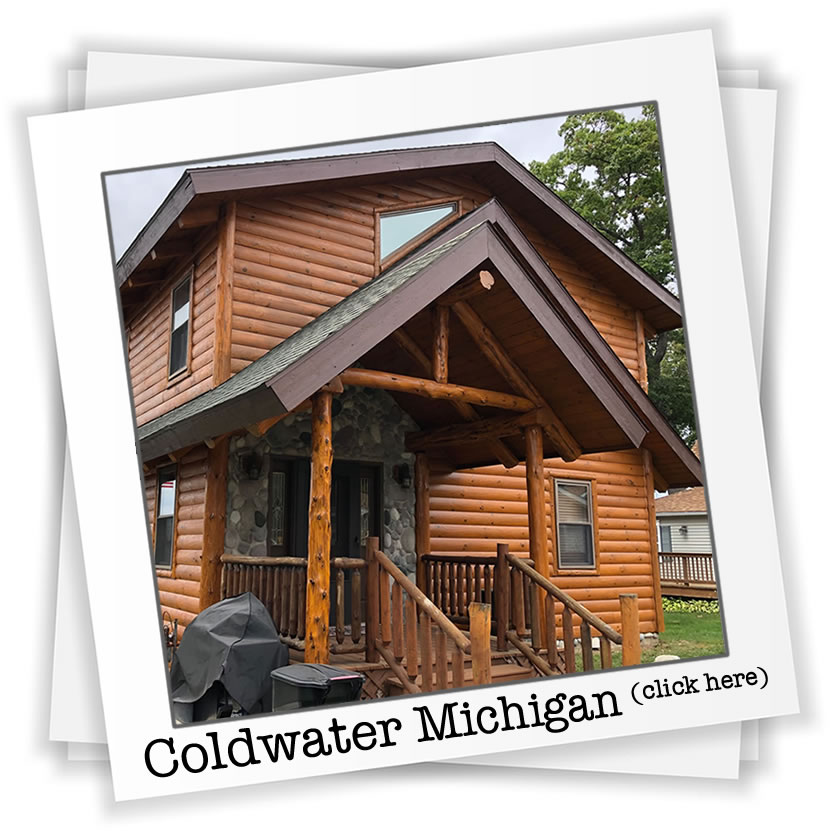 Log Home Repair Coldwater Michigan