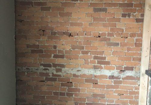 Brick blasting